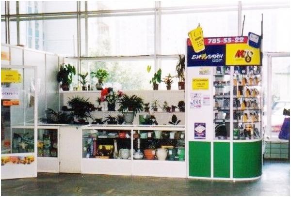 Павильоны - прилавки - витрины для магазинов